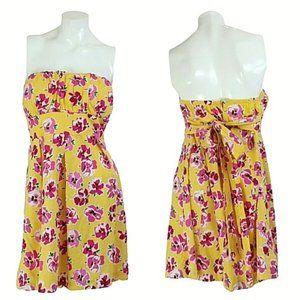 Jump Girl Floral Strapless Pleated Mini Dress